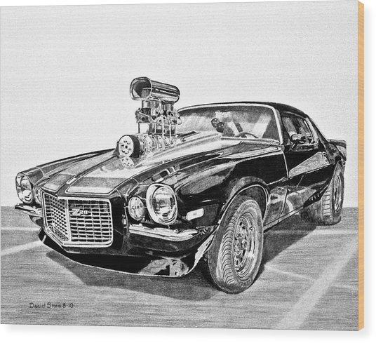 1973 Camaro Z28 Wood Print by Daniel Storm