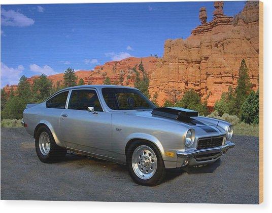 1973 Chevrolet Vega Pro Street Dragster Wood Print