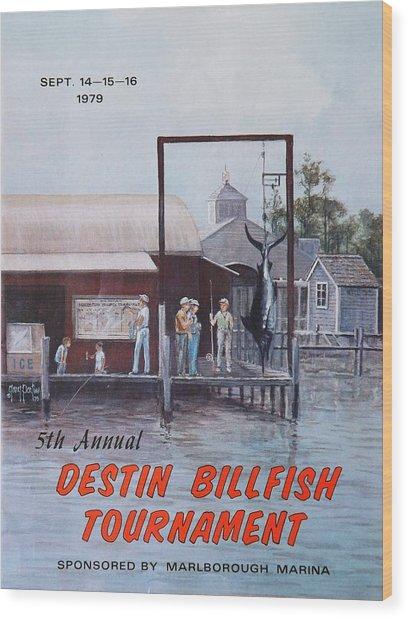 1979 Destin Billfish Tournament Wood Print
