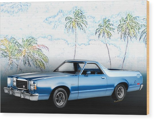 1979 Ranchero Gt 7th Generation 1977-1979 Wood Print