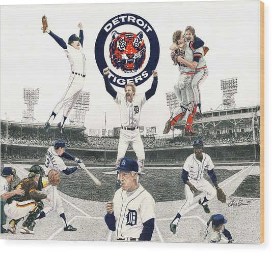 1984 Detroit Tigers Wood Print