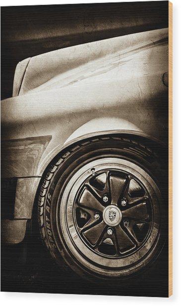 1984 Porsche 911 Carrera Wheel Emblem -2270s Wood Print by Jill Reger