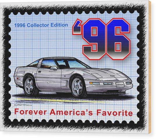 1996 Collector Edition Corvette Wood Print