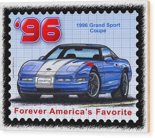 1996 Grand Sport Corvette Wood Print