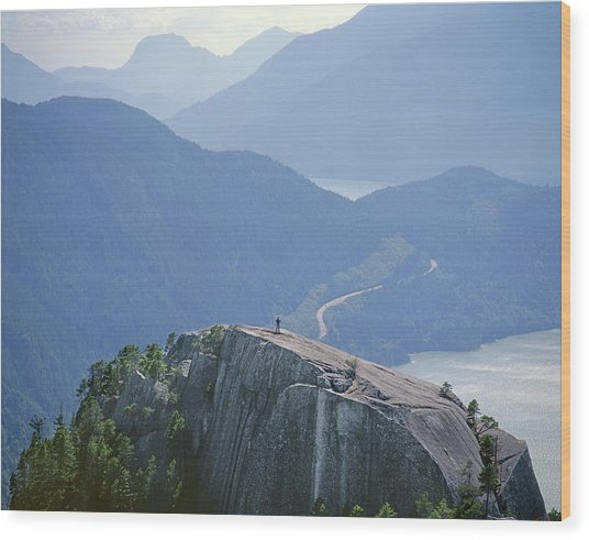 1m2918 South Summit Stawamus Chief From Second Summit Wood Print