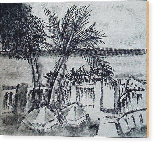 1st La Playa  Wood Print