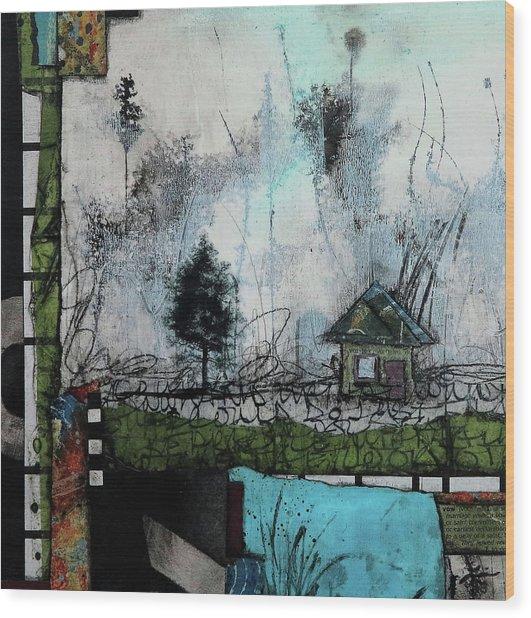 1tree, 1home By The Lake Wood Print