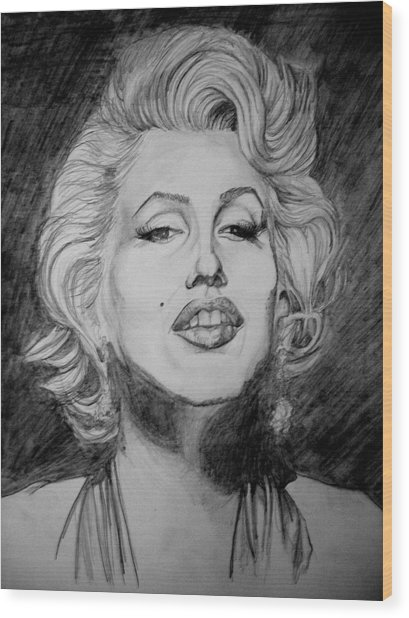 Marylin Monroe Wood Print by Sean Leonard
