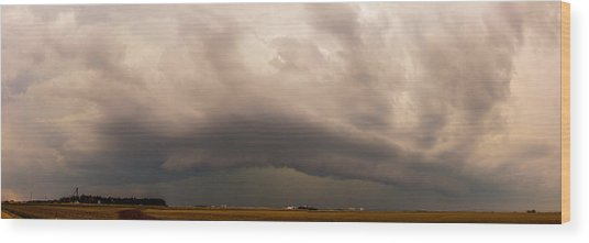 3rd Storm Chase Of 2015 Wood Print