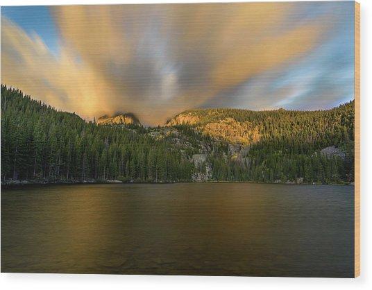 Wood Print featuring the photograph 2 / 51  Bear Lake's Hallett Peak #2 by John Gilbert