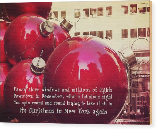 6th Avenue Quote Wood Print by JAMART Photography