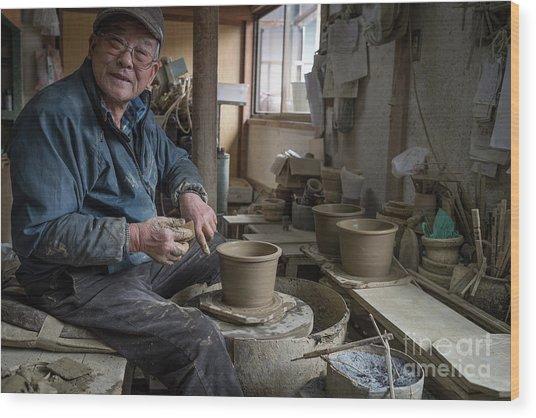 A Village Pottery Studio, Japan Wood Print