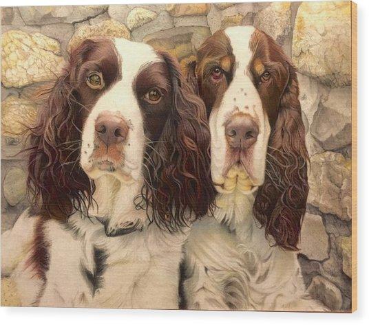 Abby And Romeo Wood Print