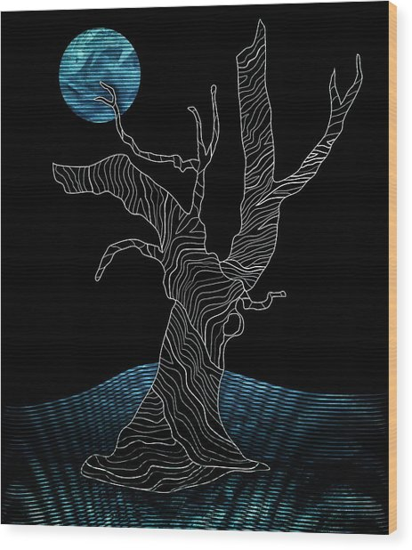 Abstract Gnarly Tree Wood Print