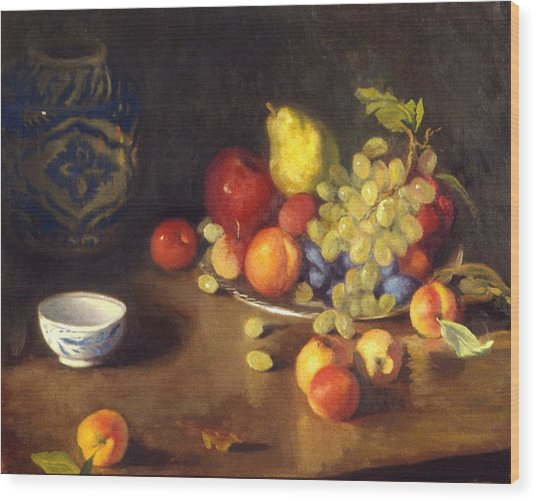 Abundance Of Fruit Wood Print by David Olander