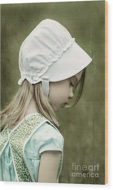 Amish Child Wood Print