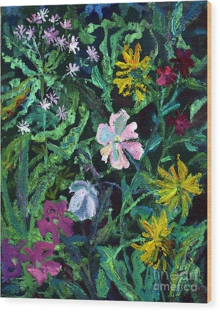 Anemones Wood Print by Katia Weyher