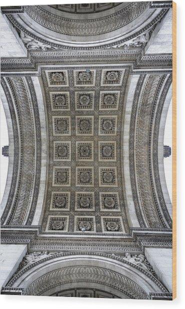 Arc De Triomphe Detail Wood Print