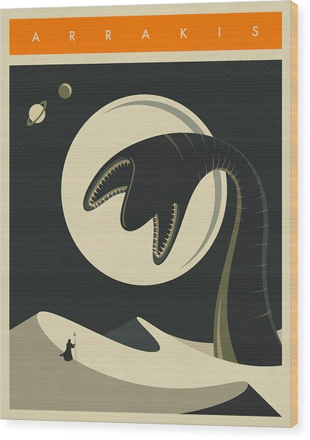 Arrakis Travel Poster  Wood Print