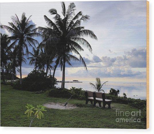 Asan Beach Guam Wood Print
