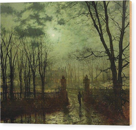At The Park Gate Wood Print