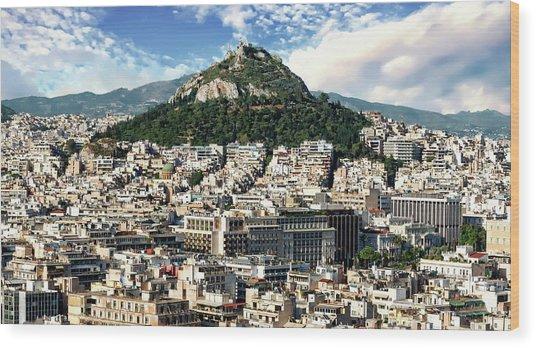 Athens Panorama Wood Print