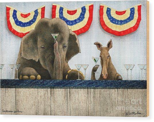 Backroom Politics Painting By Will Bullas