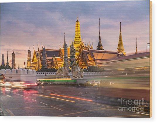 Bangkok Wat Phra Keaw Wood Print