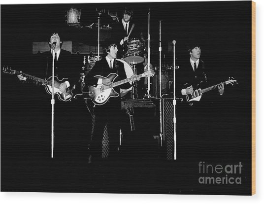 Beatles In Concert 1964 Wood Print
