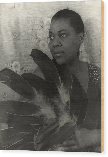 Bessie Smith, American Blues Singer Wood Print by Everett