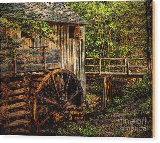 Cades Cove Mill Wood Print