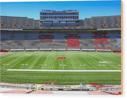 Camp Randall Uw Madison Wood Print