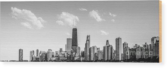 Chicago Skyline Panorama Photo Wood Print
