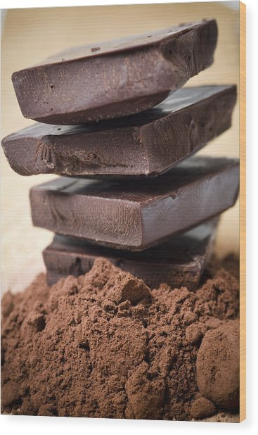 Chocolate Wood Print by Frank Tschakert