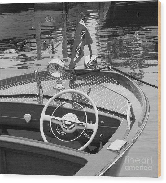 1950's Sportsman Wood Print