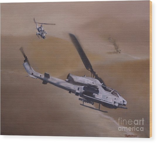 Close Air Support Wood Print