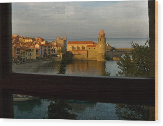 Collioure Sunset Wood Print by K C Lynch
