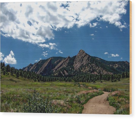Colorado Landscape Wood Print