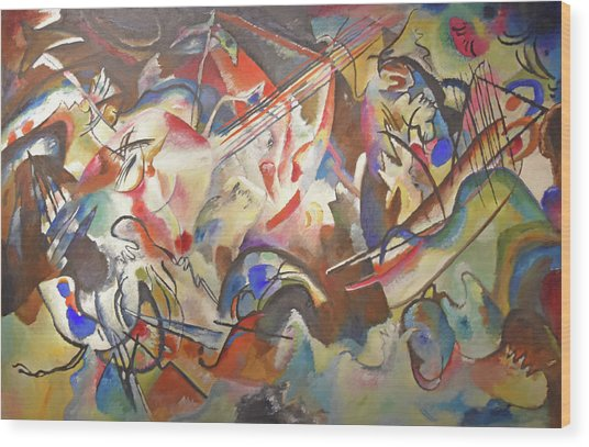 Composition Vi Wood Print by Wassily Kandinsky
