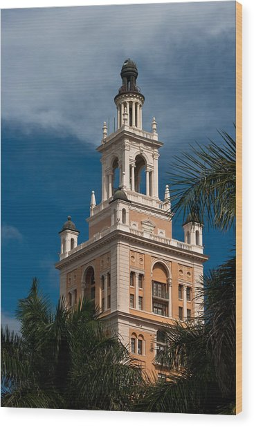 Coral Gables Biltmore Hotel Tower Wood Print