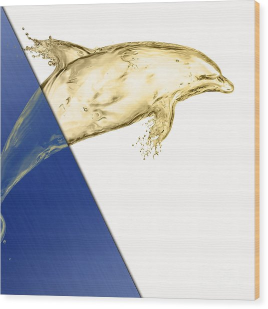 Dolphin Collection Wood Print