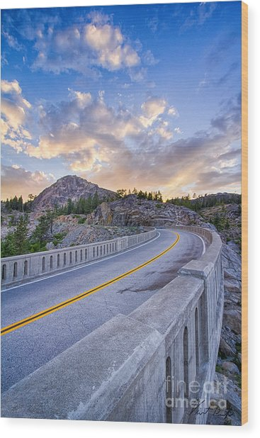 Donner Memorial Bridge Wood Print