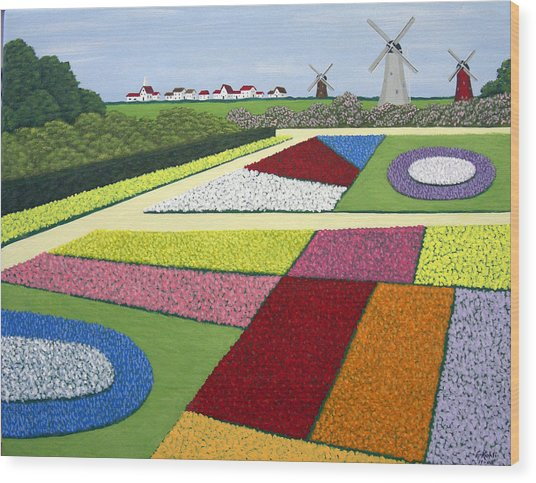 Dutch Gardens Wood Print by Frederic Kohli
