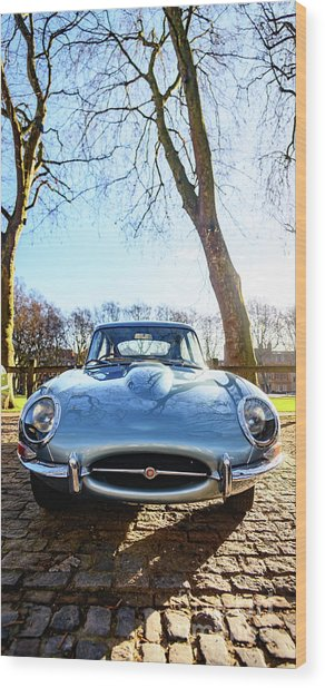 E Type Jaguar Wood Print