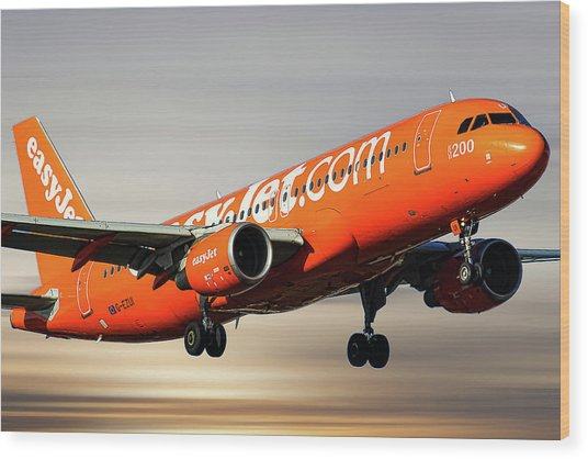 Easyjet 200th Airbus Livery Airbus A320-214 Wood Print