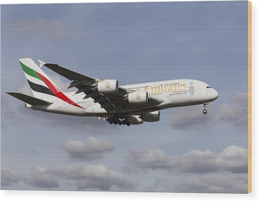 Emirates A380 Airbus Wood Print