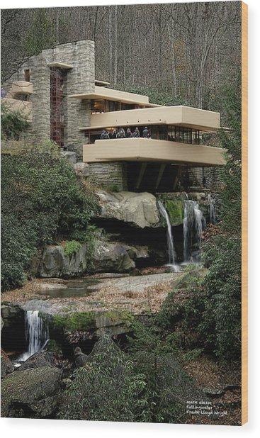 Fallingwater Wood Print