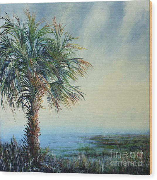 Florida Horizons Wood Print by Michele Hollister - for Nancy Asbell