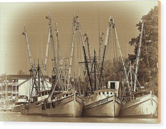 Georgetown Shrimpers Wood Print