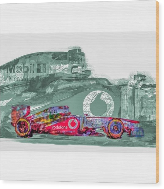 #helmuth #mariokart @team_penske Wood Print